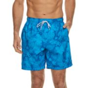 Men's Croft & Barrow® Tropical Printed Swim Trunks