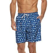 Men's Croft & Barrow® Nautical Printed Swim Trunks