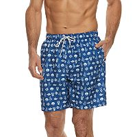 Men's Croft & Barrow® Nautical Printed Swim Trunks