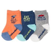 Baby / Toddler Boy OshKosh B'gosh® 3-pack Life Goals Crew Socks