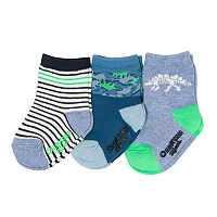 Baby / Toddler Boy OshKosh B'gosh® 3-pack Glow-in-the-Dark Dinosaur Crew Socks