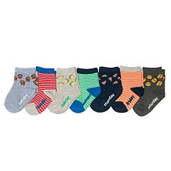 Baby / Toddler Boy OshKosh B'gosh® 7-pack Food Day of the Week Crew Socks