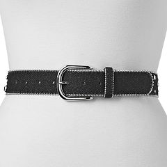 Women's Mudd® Beaded Edge & Rhinestone Belt