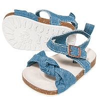 Baby Girl OshKosh B'gosh® Chambray Sandal Crib Shoes
