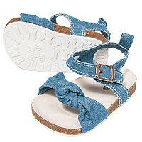 Baby Girl OshKosh B'gosh® Chambray Sandal Crib Shoes