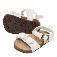 Baby Girl OshKosh B'gosh® Eyelet Sandal Crib Shoes