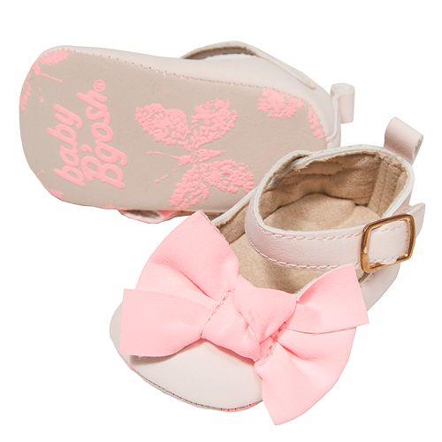Baby Girl OshKosh B'gosh® Eyelet Pink Bow Ballet Flat Crib Shoes