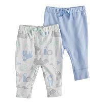 Baby Boy Jumping Beans® 2-pack Print & Solid Jogger Pants