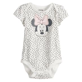 Disney's Minnie Mouse Baby Girl Polka-Dot Graphic Bodysuit by Jumping Beans®