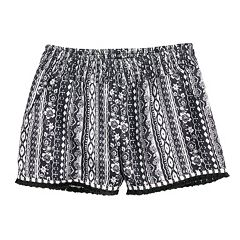 Girls 7-16 Joey B Tassel Trim Soft Shorts