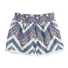 Girls 7-16 Joey B Tassel Trim Soft Shorts