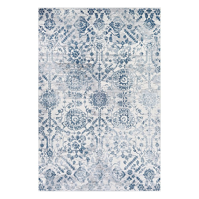 Couristan Calinda Marlowe Floral Rug, Blue, 6.5X9.5 Ft Product Image