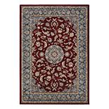 Couristan Monarch Medallion Framed Floral Rug