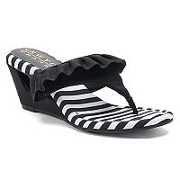 New York Transit Vital Moment Women's Wedge Sandals