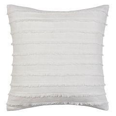 Heathered Velvet Fringe Throw Pillow