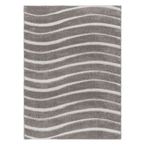 KHL Rugs Waveland Contemporary Striped Shag Rug