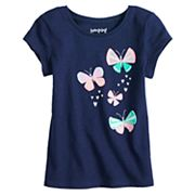 Toddler Girl Jumping Beans® Butterflies Glitter Graphic Tee