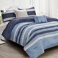 Genova Indigo Comforter Set