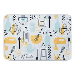 KHL Rugs Kitchen Objects Printed Comfort Mat
