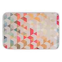KHL Rugs Hexagons Contemporary Geometric Printed Comfort Mat