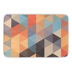 KHL Rugs Triangles Contemporary Geometric Printed Comfort Mat