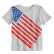 Toddler Boy Jumping Beans® Flag Heathered Graphic Softest Tee