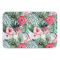 KHL Rugs Hibiscus Transitional Floral Printed Comfort Mat