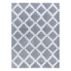 KHL Rugs Xavier Contemporary Marrakesh Trellis Shag Rug