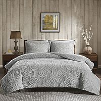 Woolrich Teton Embroidered Plush 3 pc Coverlet Set