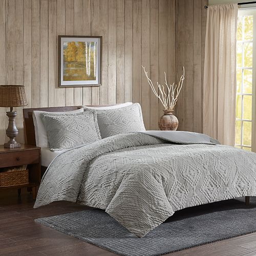 Woolrich Teton Embroidered Plush 3-piece Coverlet Set