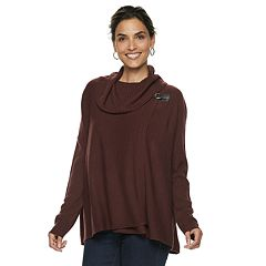 Petite Napa Valley Cowlneck Buckle-Detail Dolman Sweater