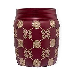 Popular Bath Elegant Rose Wastebasket