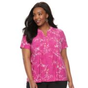 Plus Size Croft & Barrow® Splitneck Top