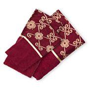 Popular Bath Elegant Rose 3 pc Bath Towel Set