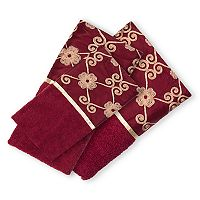 Popular Bath Elegant Rose 3 pc Bath Towel Set
