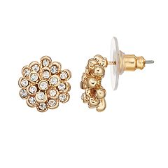 LC Lauren Conrad Simulated Crystal Nickel Free Flower Stud Earring