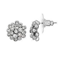 LC Lauren Conrad Simulated Crystal Nickel Free Flower Stud Earring
