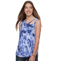Juniors' Grayson Threads Cutout Tank