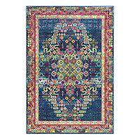nuLOOM JoAnn Vintage Persian Framed Floral Rug