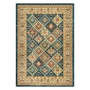 nuLOOM Cyndi Tribal Tiles Framed Rug