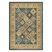 nuLOOM Cyndi Tribal Tiles Framed Rug