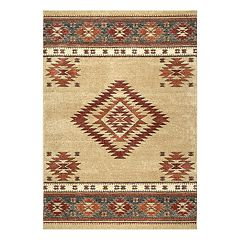 nuLOOM Margene Tribal Diamond Geometric Rug