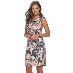 Women's Nina Leonard Printed Sheath Dress