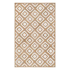 nuLOOM Rosalva Diamonds Geometric Jute Blend Rug