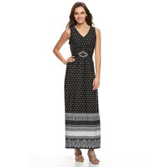 Women's Nina Leonard Paisley Maxi Dress