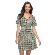 Women's Nina Leonard Geometric Fit & Flare Dress