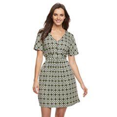 Women's Nina Leonard Geometric Fit & Flare Dress