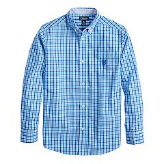 Boys 4-20 Chaps Noah Plaid Button-Down Shirt