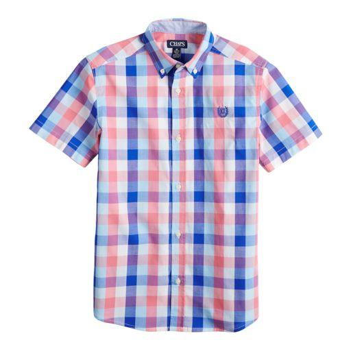 Boys 4-20 Chaps Jay Plaid Button-Down Shirt