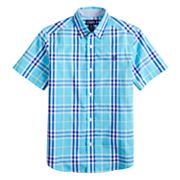 Boys 4-20 Chaps Lee Plaid Button-Down Shirt